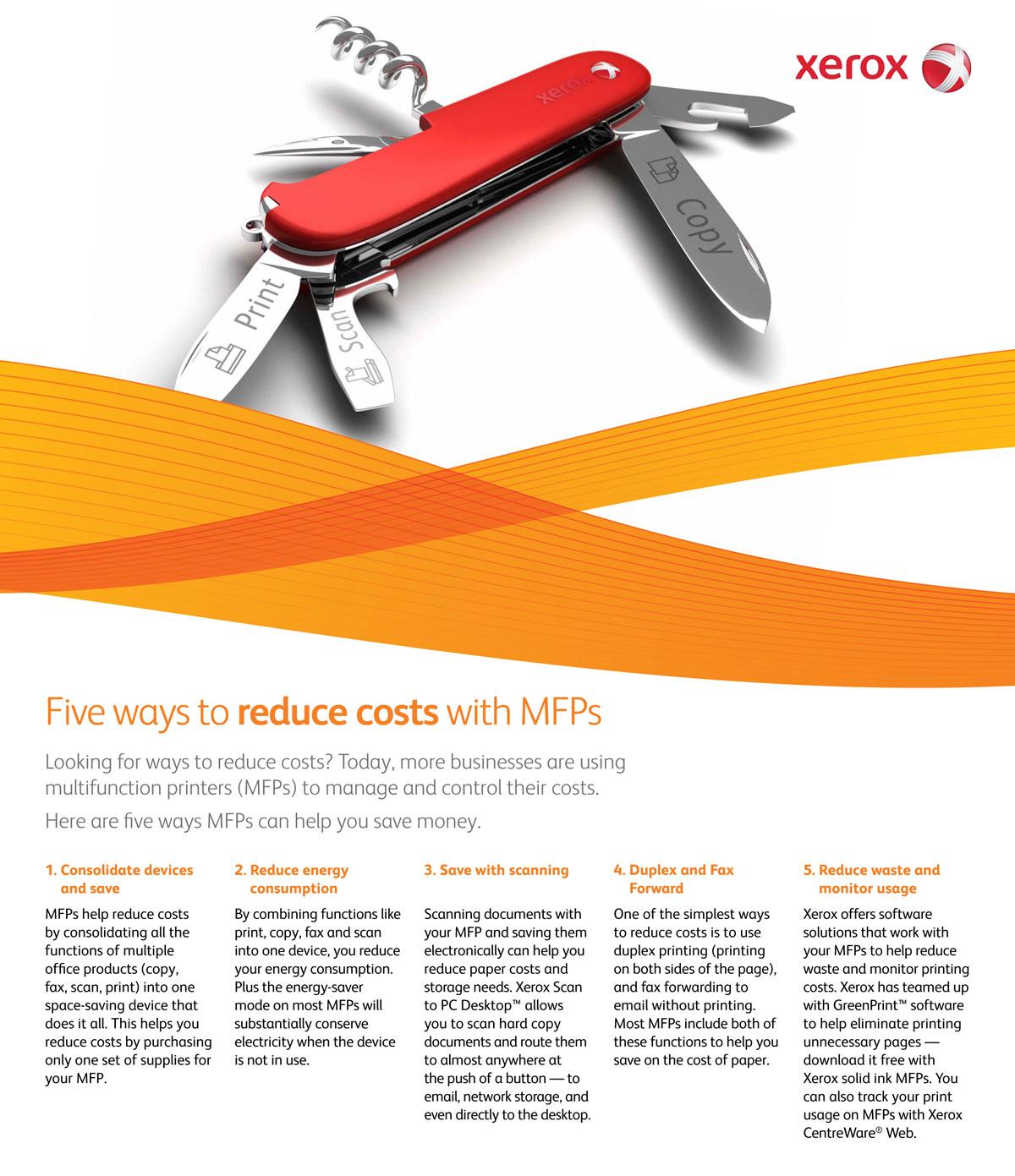 xerox reduce costs sbm